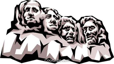 Mount Rushmore Royalty Free Vector Clip Art illustration.