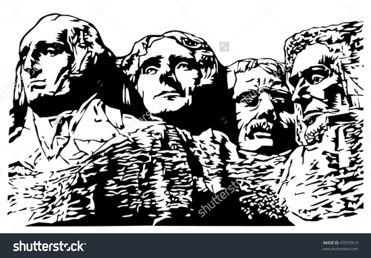 Mt Rushmore Stock Vector 47973919.