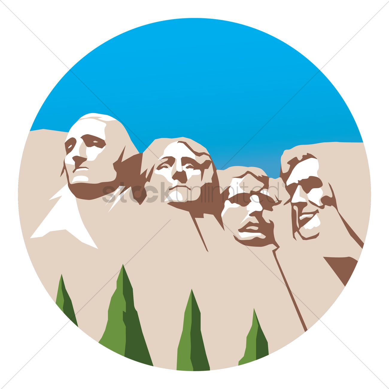 Mount rushmore Vector Image.