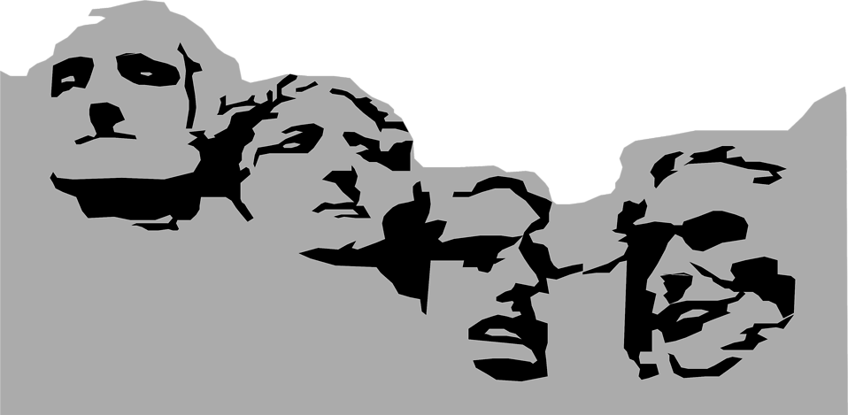 Mount rushmore cartoon clipart.