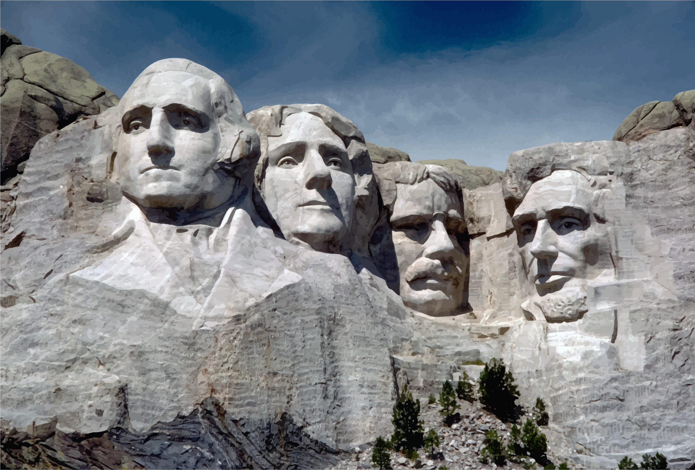 Mount Rushmore Clipart.