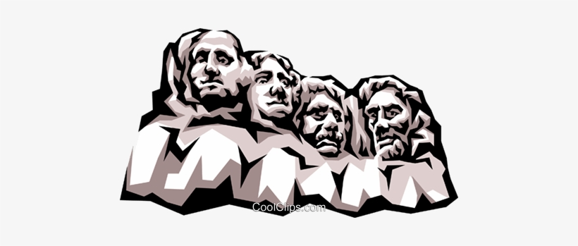 Mount Rushmore Royalty Free Vector Clip #449265.