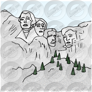 Mount Rushmore Picture for Classroom / Therapy Use.