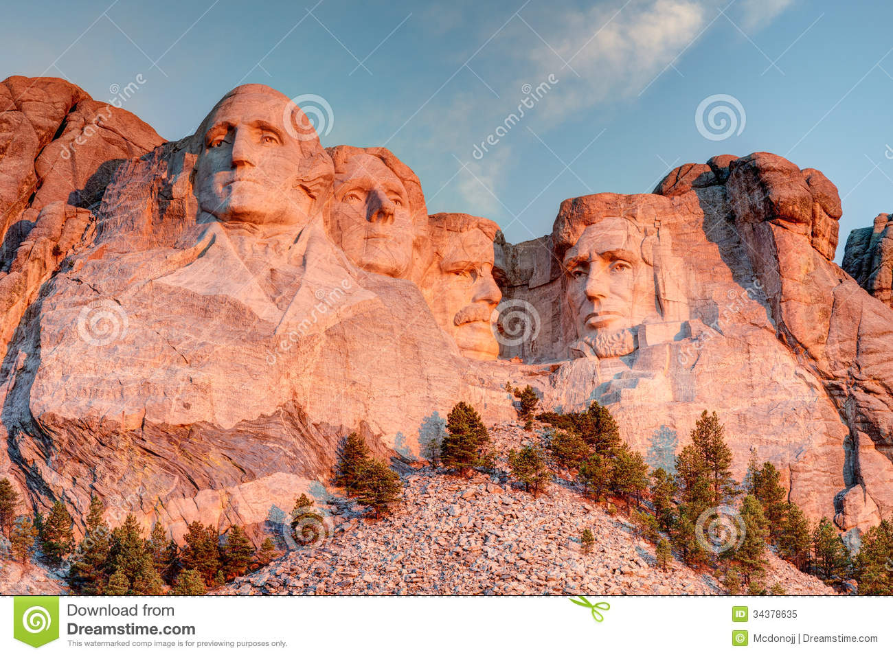 Mount Rushmore National Memorial Royalty Free Stock Photo.