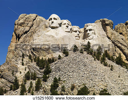 Stock Photography of Mount Rushmore National Memorial with.
