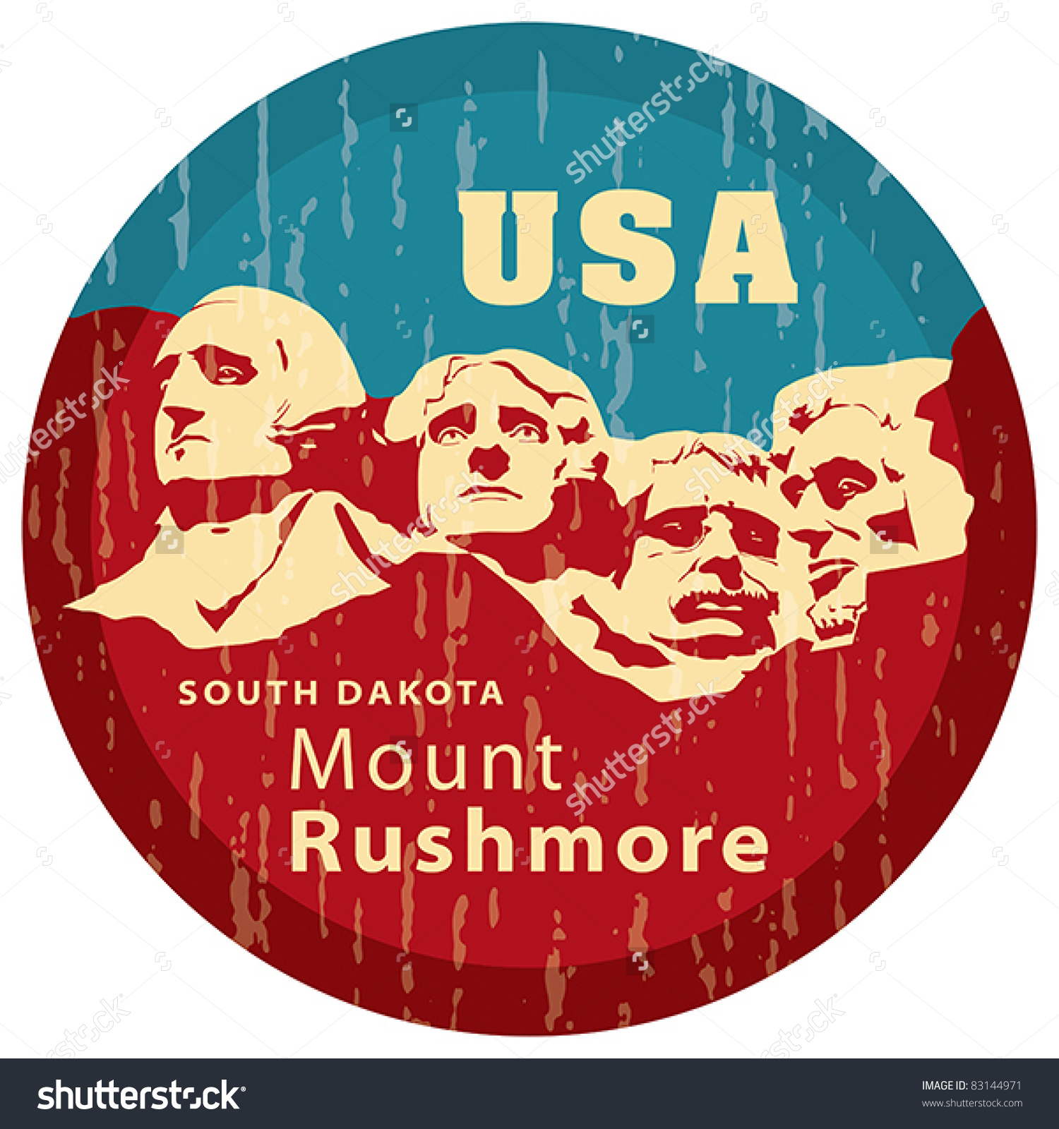 Mount Rushmore National Memorial Eps 8 Stock Vector 83144971.