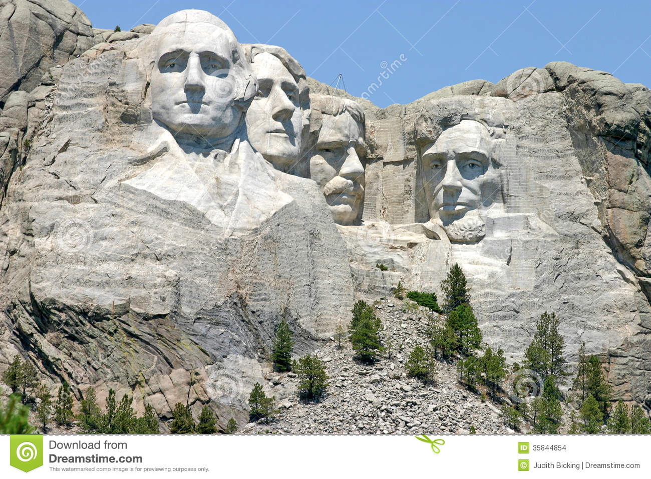 Mount Rushmore National Memorial Sculpture Stock Images.
