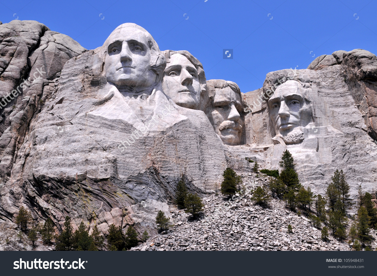 Mount Rushmore National Memorial South Dakota Stock Photo.