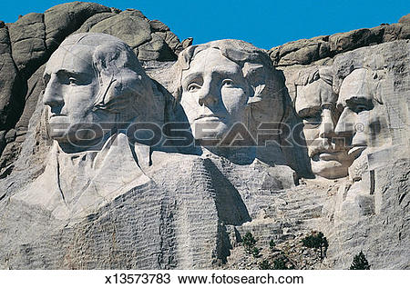 Stock Photo of Mt Rushmore, Mt Rushmore National Memorial, South.
