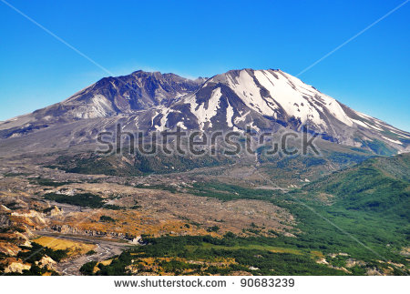 Mount St Helens Stock Images, Royalty.