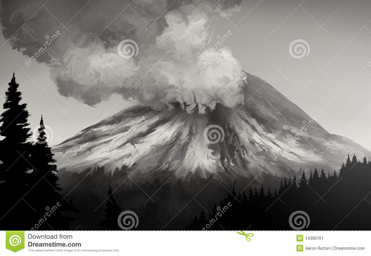 Mt. St. Helens Eruption Stock Image.