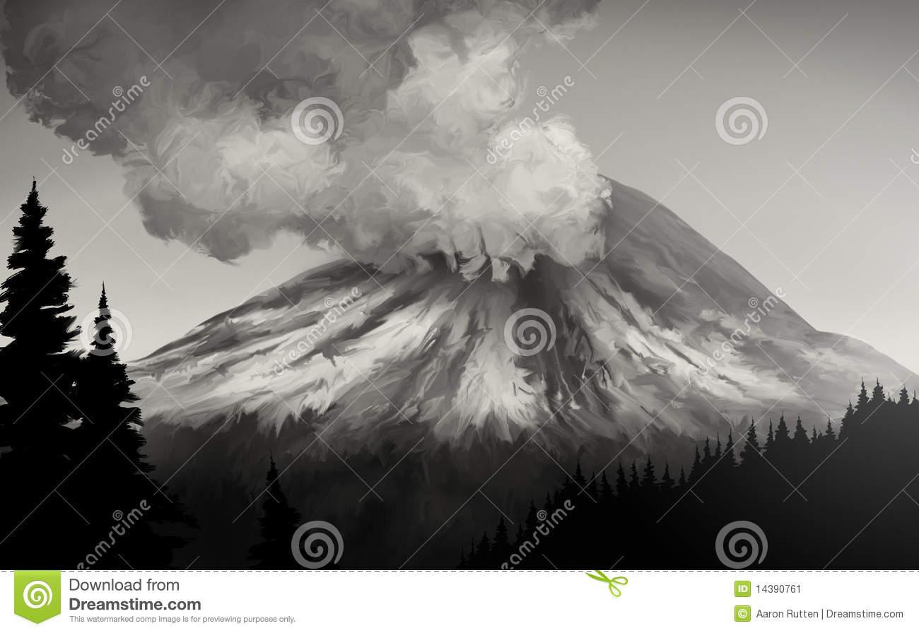 Mt. St. Helens Eruption Stock Image.