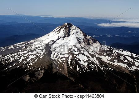 Stock Photography of Aerial Photo of Mount ST. Helens.