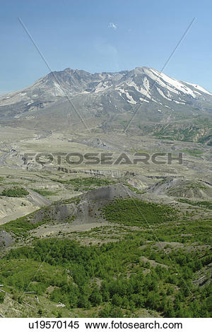 Stock Image of Mount St. Helens National Volcanic Monument, WA.