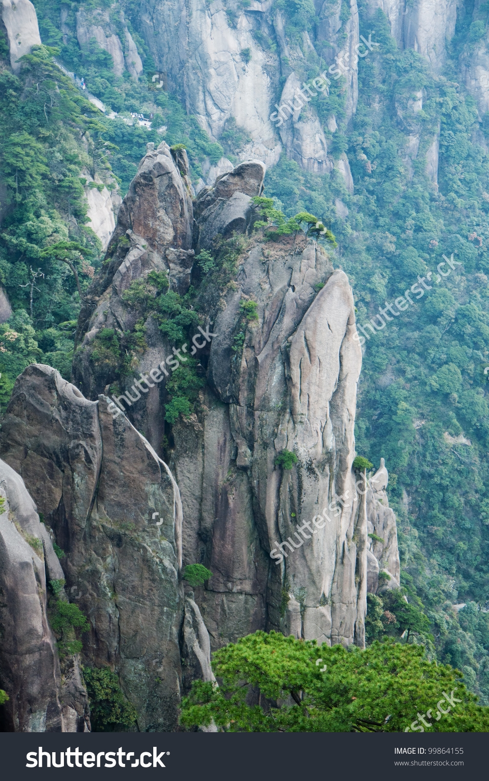 Landscape Of Mount Sanqingshan National Park, Jiangxi Province.