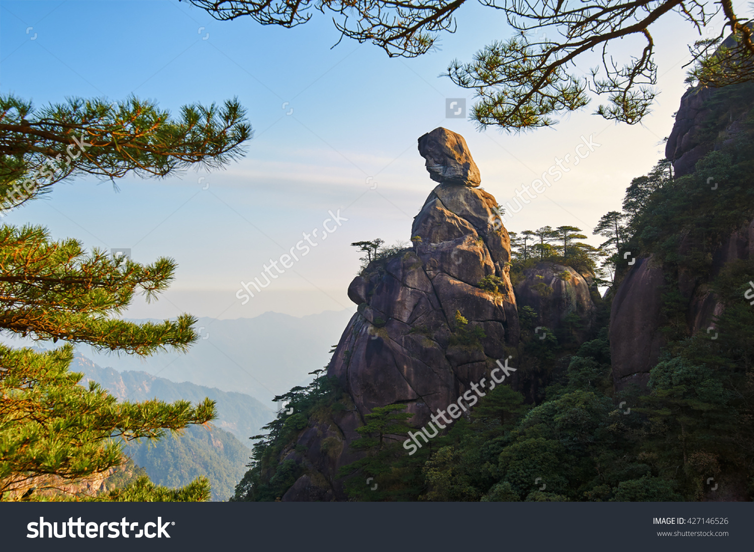Mount Sanqing Scenic. World Geo Park. Stock Photo 427146526.