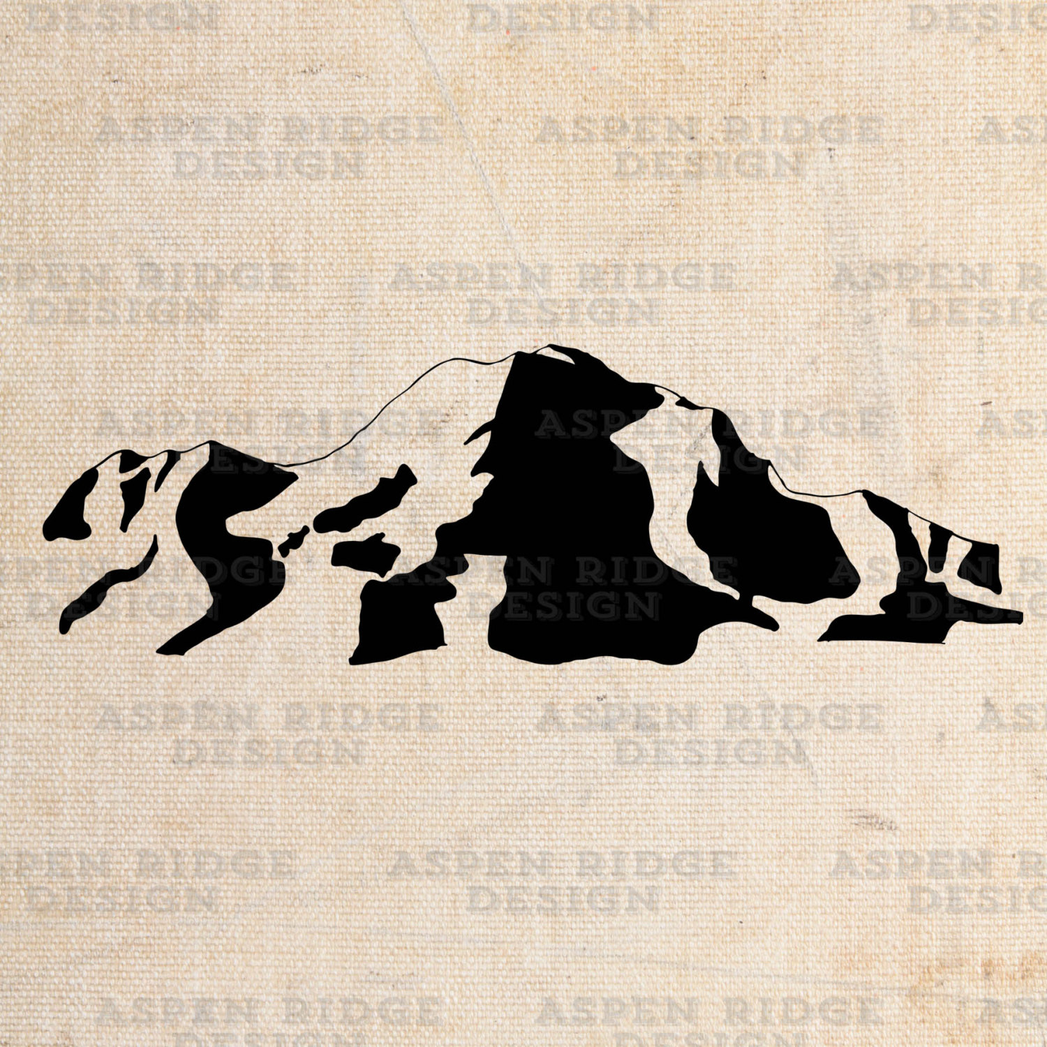 Mount Shasta Graphic Clip Art Vector Royalty Free by theaspenridge.