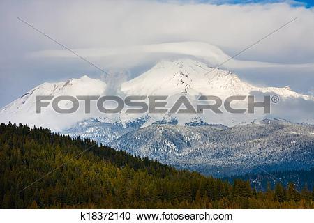 Stock Photography of Mount Shasta k18372140.