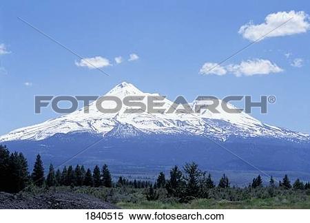 Stock Image of Mt. Shasta, Mt. Shastina, California, USA 1840515.