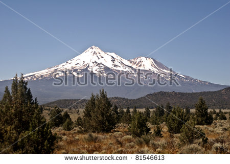 Mount Shasta Stock Images, Royalty.