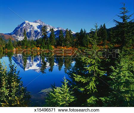Stock Photography of USA, Washington, Whatcom County, Mount Baker.