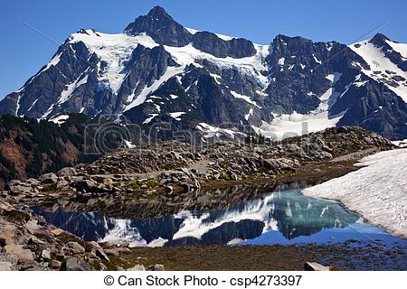 Picture of Mount Shuksan Small Reflection Artist Point Washington.