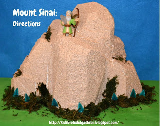 Bible Fun For Kids: Mount Sinai Foam Visual.