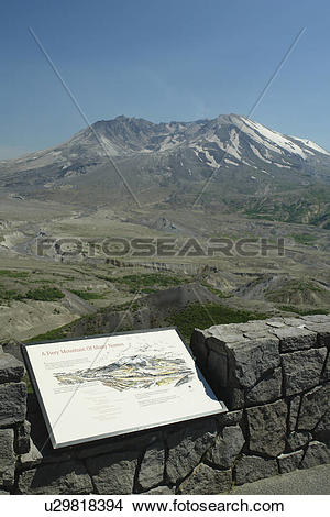 Stock Photo of Mount St. Helens National Volcanic Monument, WA.