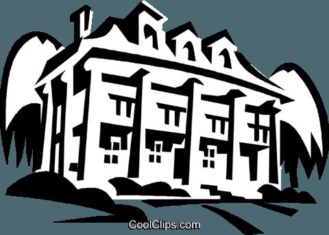 Mount Vernon, home of Washington Royalty Free Vector Clip.