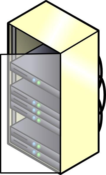 Rack Mounted Blade Servers clip art Free vector in Open office.