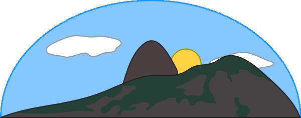 Ocean Mountain Cliparts.