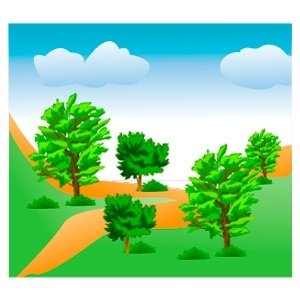 Mountain Trees Clipart Picture Free Download.