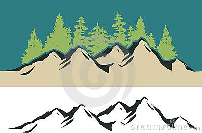 mountains & tree clipart.