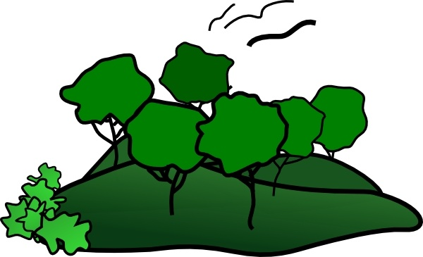 Landscape Mountain Trees clip art Free vector in Open office.