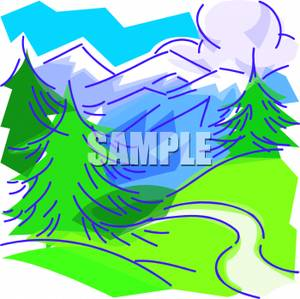 Mountain Valley Clip Art.