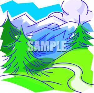 Mountain Valley Clip Art.