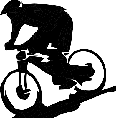 Mountain Bike Silhouette Clip Art.