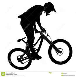 Download mountain bike jump silhouette clipart Bicycle.