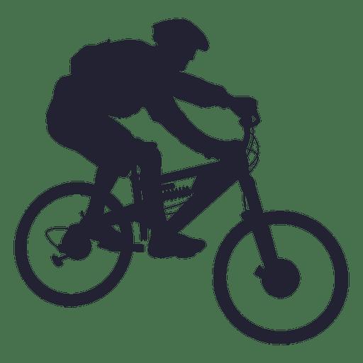 Mountain bike Bicycle Cycling Silhouette.
