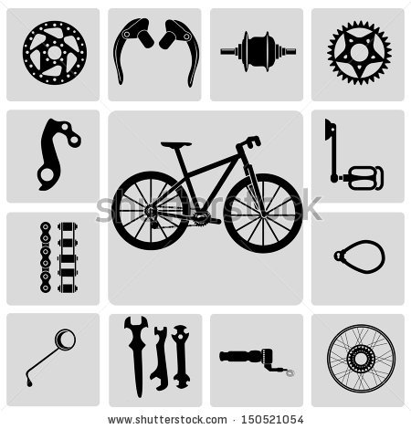 Bicycle Parts Stock Images, Royalty.