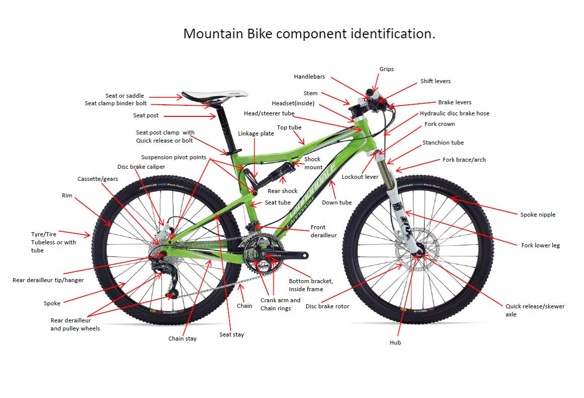 MTB component identification diagram.