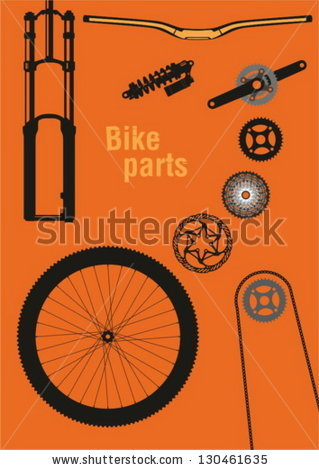 Bike Parts Vector Stock Photos, Royalty.