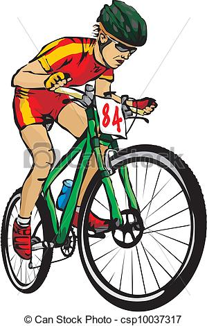 Vector Clip Art of mountain bike.