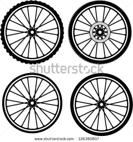 Mountain bike tyres clipart #3