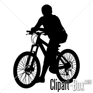 CLIPART MOUNTAIN BIKE.