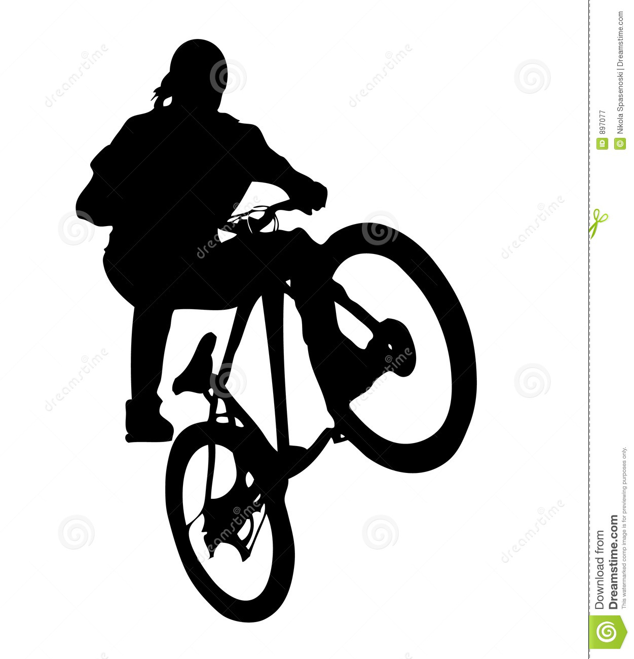 Mountain bike riding clipart.