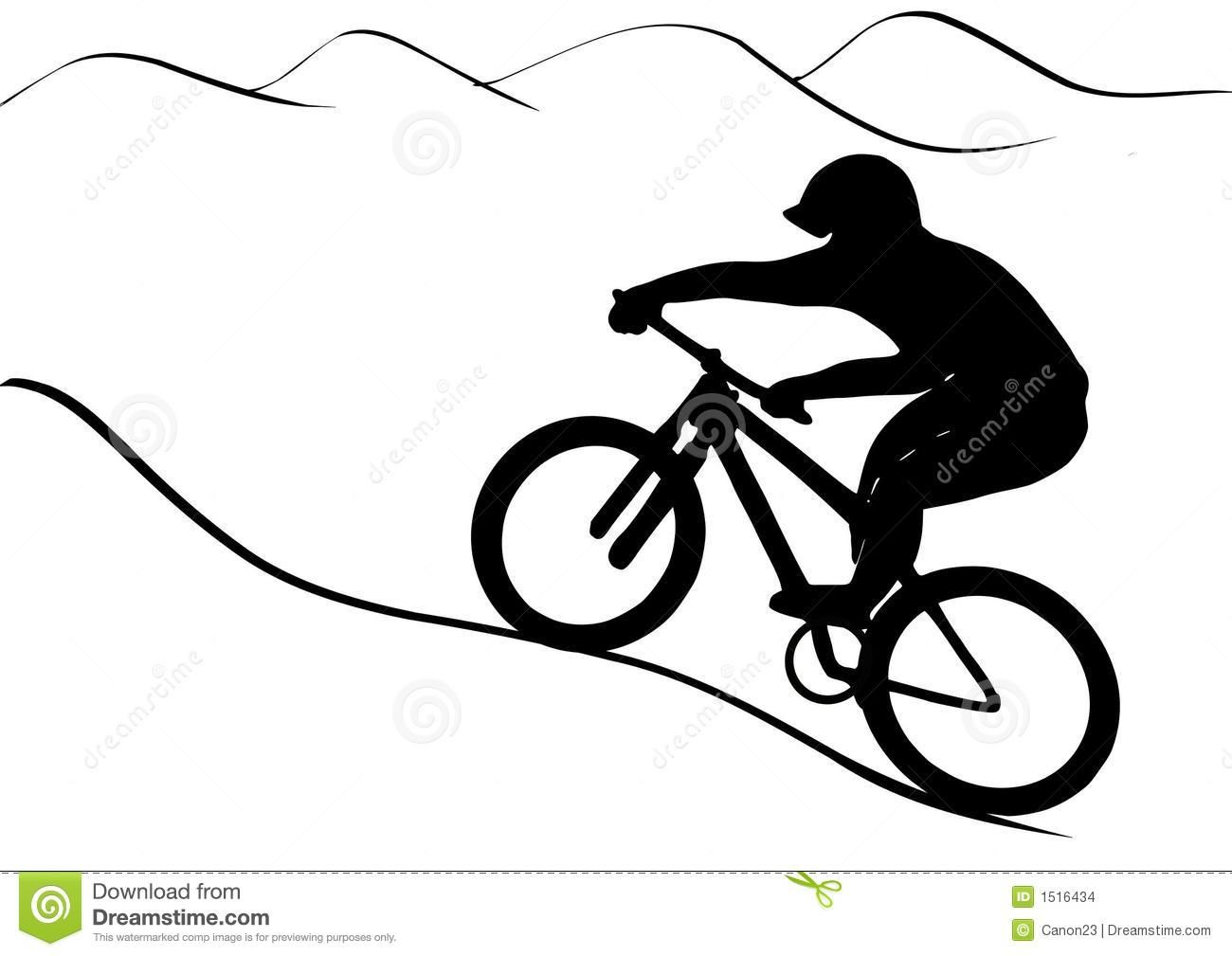 Image result for downhill mountain bike clip art.