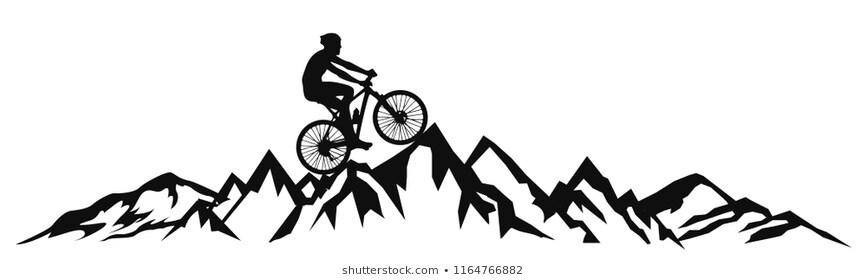 Mountain Bike Alps Stock Illustrations, Images & Vectors.