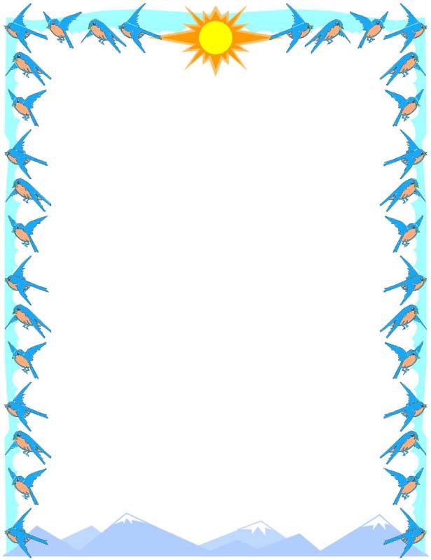 Sun Border Clip Art.