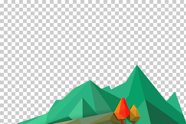 Cartoon , Green Mountain cartoon decoration PNG clipart.